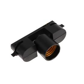 Трековый светильник под лампу E27, поворотный, черный Ош