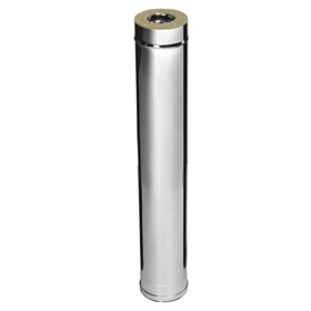 Дымоход Феррум утеплённый нержавеющий 430/0.5 мм/зеркальный, d 115 × 200 мм, L=1.0 м