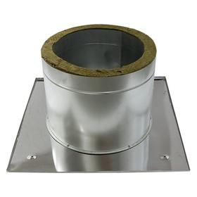 Разделка Феррум потолочная нержавеющая 430/0.5 мм, 600 × 600 мм, d 200 мм с утеплителем