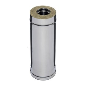 Дымоход Феррум утеплённый нержавеющий 430/0.5 мм/оцинкованный, d 120 × 200 мм, L=0.5 м