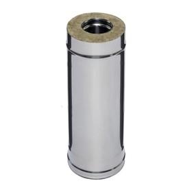 Дымоход Феррум утеплённый нержавеющий 430/0.5 мм/зеркальный, d 115 × 200 мм, L=0.5 м