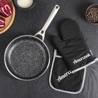 Сковорода литая 22х5 см Energica, индукция, прихватка и варежка
