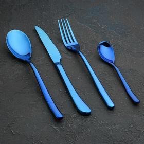Набор столовых приборов Magistro «Эсквайр», 4 предмета, цвет синий