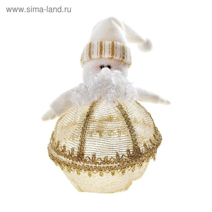 "Мягкая шкатулка ""Дед Мороз"" (золотой декор)"