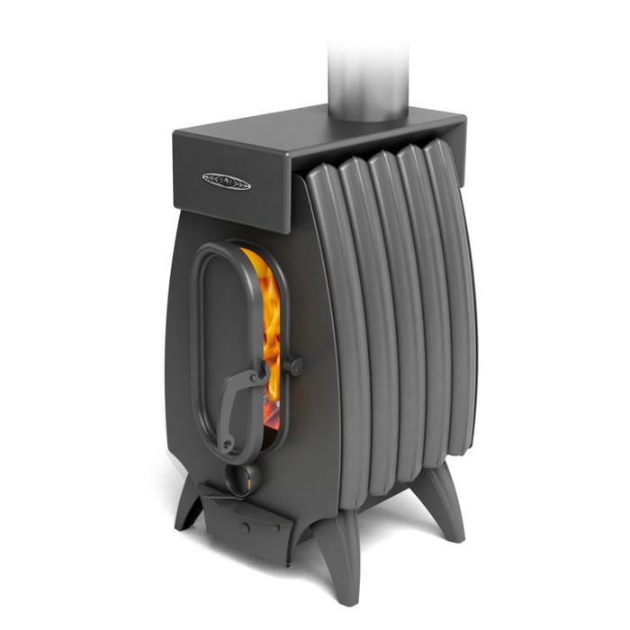 Печь отопительно-варочная «Огонь-батарея 5 Лайт», дровяная, цвет антрацит