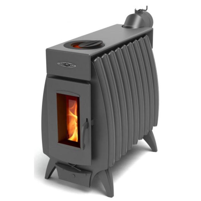 Печь отопительно-варочная «Огонь-батарея 9», дровяная, цвет антрацит