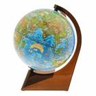 Глобус Земли зоогеографический 210мм, треугольная подставка 10291