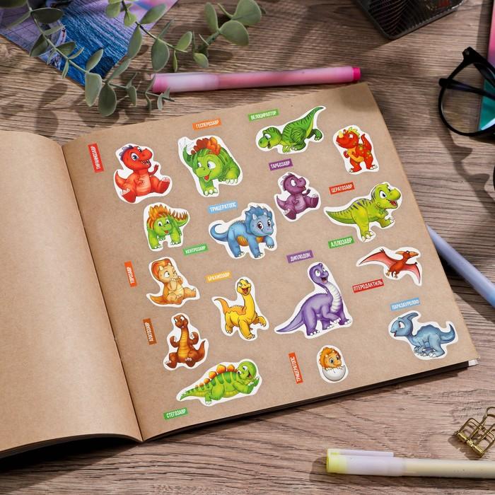 Наклейки для дома «Изучаем динозавров», 24 × 37 см