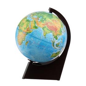 Глобус Земли физический, диаметр 210 мм, с подсветкой, треугольная подставка