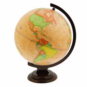 Глобус Земли политический «Ретро», диаметр 320 мм, деревянная подставка