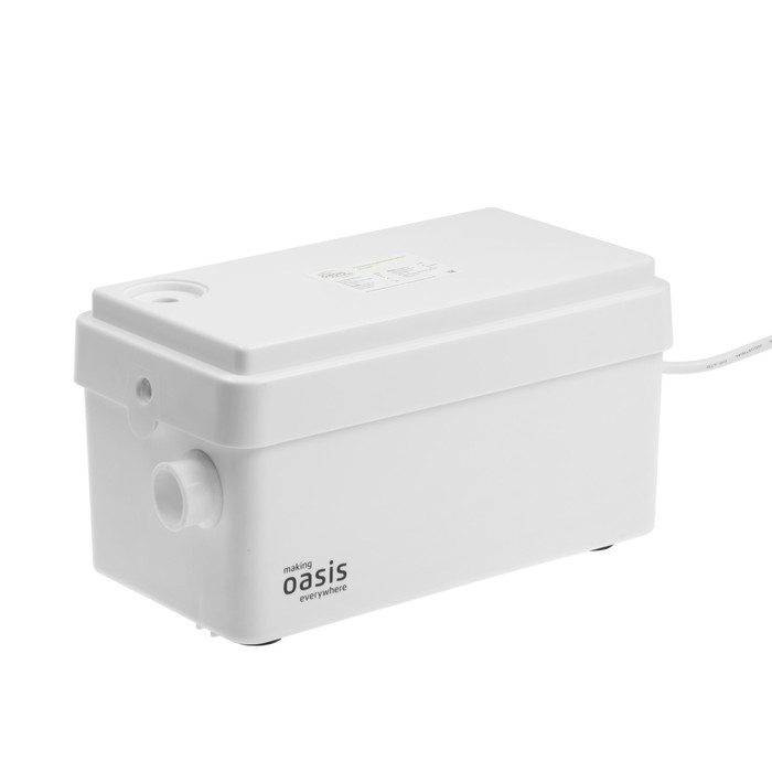 Насос канализационный Oasis SD-250, для раковины, 250 Вт, 80 л/мин, напор 4 м, емкость 3 л