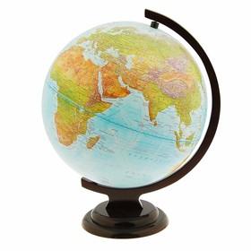 Глобус Земли физический, диаметр 320 мм, деревянная подставка