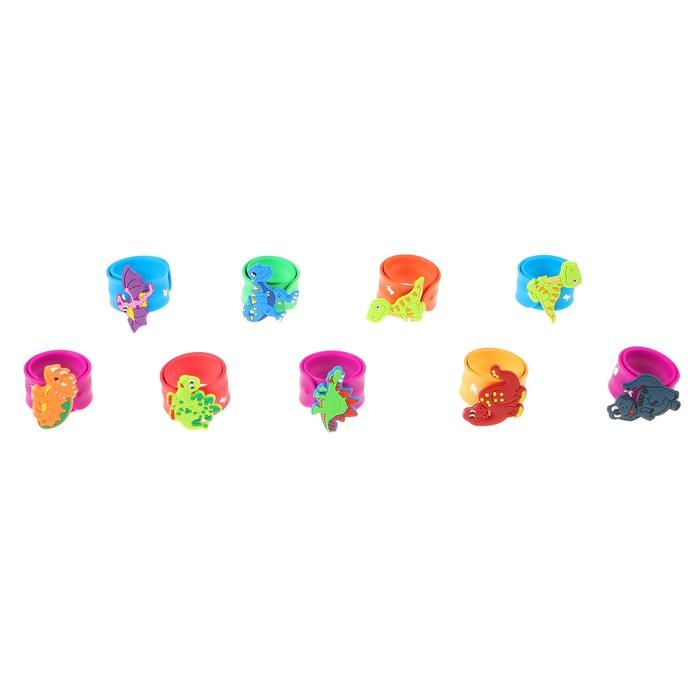 """Браслет """"Динозавр"""", цвета МИКС - фото 408657323"""