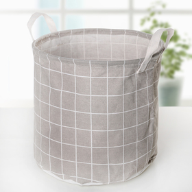 Корзина универсальная «Клетка», 30×30×30 см, цвет серый