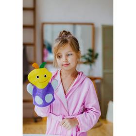 Мочалка-варежка детская 22 см 'Девочка', цвет МИКС Ош