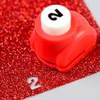 """Hole punch curly """"Figure - 2"""" d=0.8 cm 3x2,5x3 cm, MIX"""