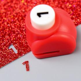 """Hole punch curly """"Figure - 1"""" d=0.8 cm 3x2,5x3 cm, MIX"""
