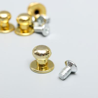 "Ручка для шкатулки металл ""Мини"" набор 5 шт+винтики золото 1,1х1 см"