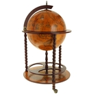 Globe bar with twisted floor decorative legs