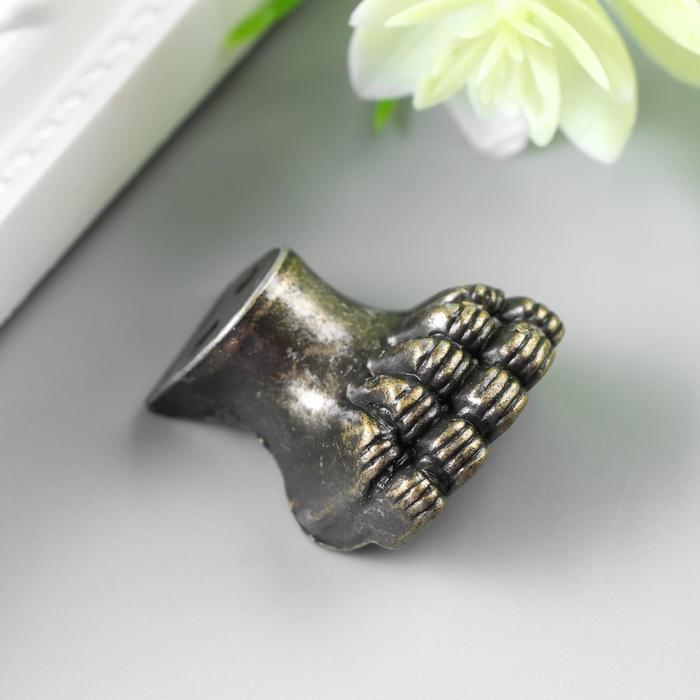"Уголок (ножка) для шкатулки ""Лапа"" набор 3 шт бронза 2,1х1,3 см"