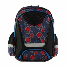 Рюкзак каркасный Transformers 41 х 30 х 13 см, для мальчика, 2 отделения, чёрный