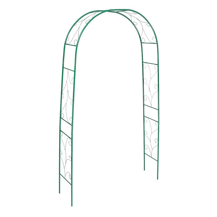 Арка садовая, разборная, 240 × 120 × 36.5 см, металл, зелёная,«Веточка»