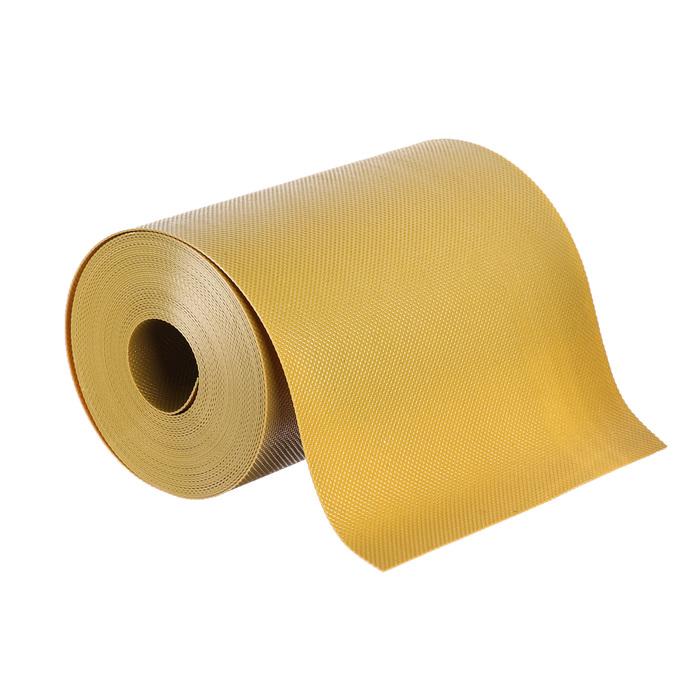 Лента бордюрная, 0.2 × 9 м, толщина 1.2 мм, пластиковая, жёлтая
