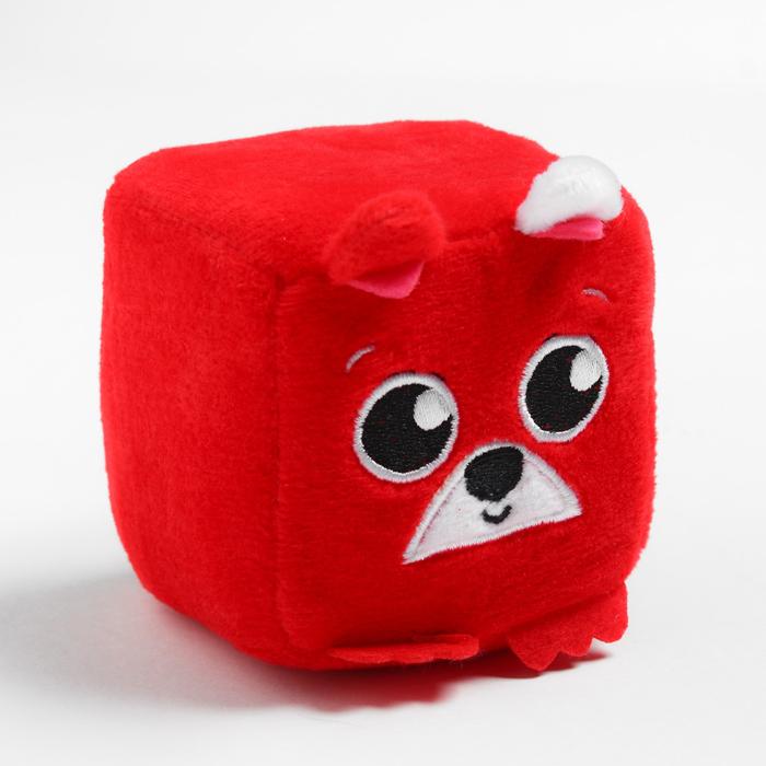 Развивающая игрушка, мягкий кубик «Собачка», с погремушкой, в сумочке