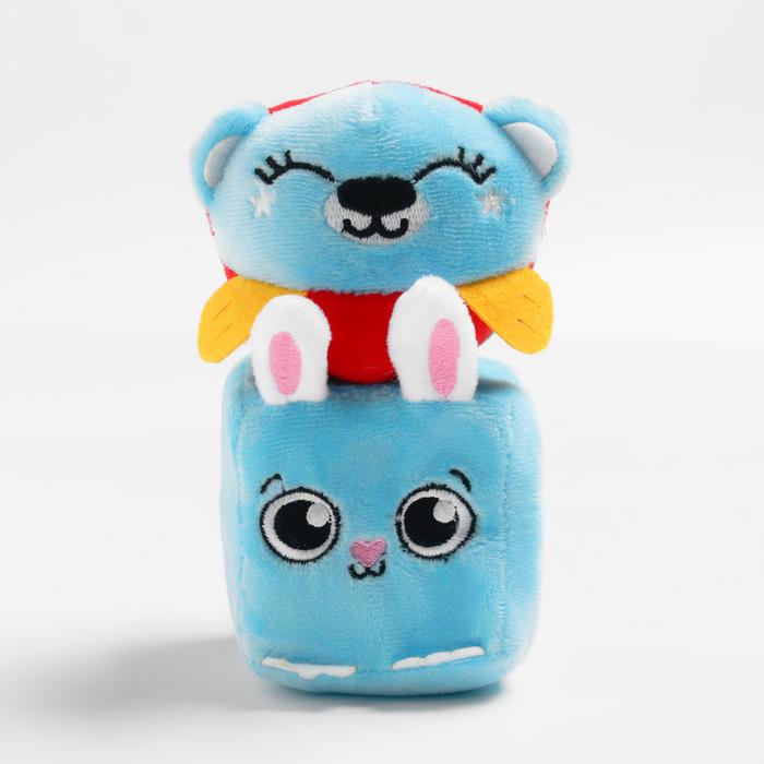Набор развивающих игрушек, 2 предмета: кубик «Зайчик», мячик «Мишка»