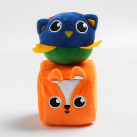 Набор развивающих игрушек, 2 предмета: кубик «Лисичка», мячик «Совушка»