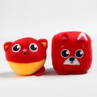 Набор развивающих игрушек, 2 предмета: кубик «Собачка», мячик «Котик» - фото 105531652