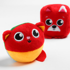 Набор развивающих игрушек, 2 предмета: кубик «Собачка», мячик «Котик» - фото 105531653