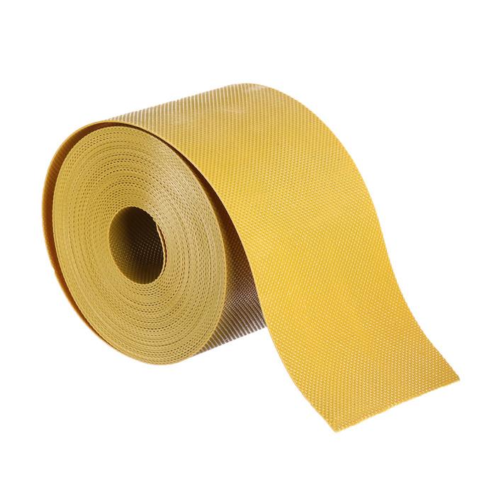 Лента бордюрная, 0.1 × 9 м, толщина 1.2 мм, пластиковая, жёлтая
