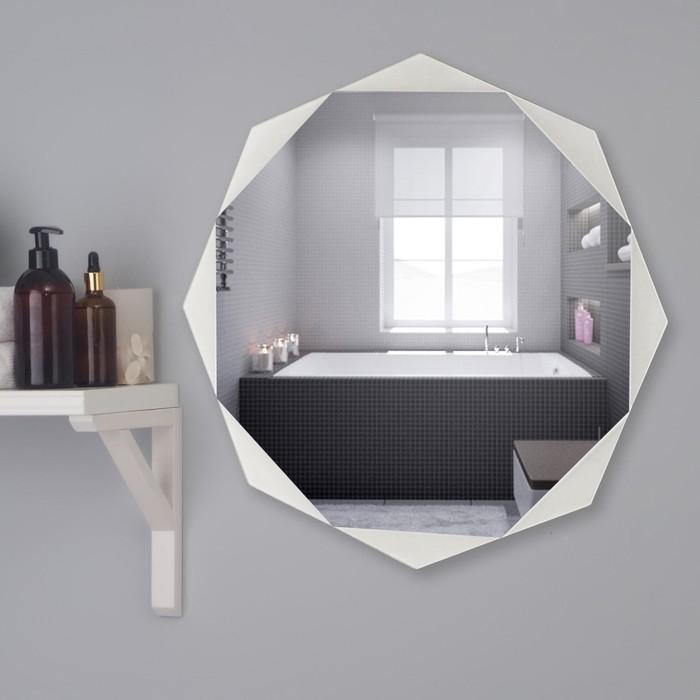 Зеркало, настенное, с пескоструйной графикой, 50×50 см