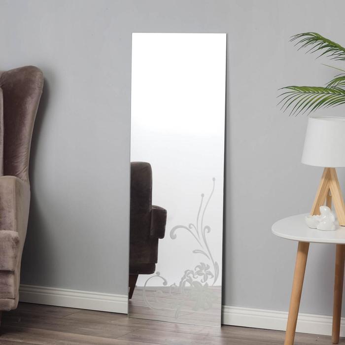 Зеркало, настенное, с пескоструйной графикой, 40×110 см