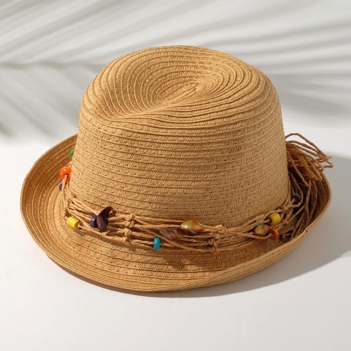 """Шляпа детская """"Brasil"""", размер 50-52, цвет коричневый"""