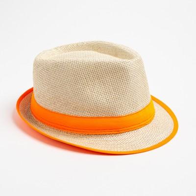 """Шляпа женская MINAKU """"Летняя"""", размер 56-58, цвет оранжевый"""