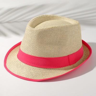 """Шляпа женская MINAKU """"Летняя"""", размер 56-58, цвет розовый"""