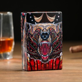 """Case """"Bear Rage"""", opens from clicking, plastic, 9,5*3*6cm"""