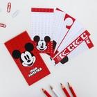 Набор листков для заметок в конверте, Микки Маус, 24 листа