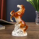 "Souvenir ""the Horse on dybah"" brown with gold rhinestones 16х9х4,8 cm"