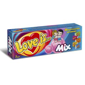 Жевательная резинка Love is Микс 5 в упаковке, 21 г