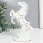 "Souvenir ""the Horse on dybah"" white gold, rhinestones 16х9х4,8 cm"