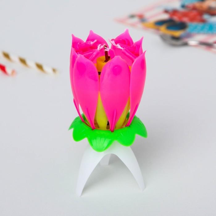 Свеча музыкальный цветок, Феи Винкс, 12.5 х 5.7 см - фото 35609059