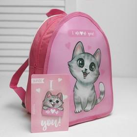 Рюкзак детский со значком 'Котик' Ош