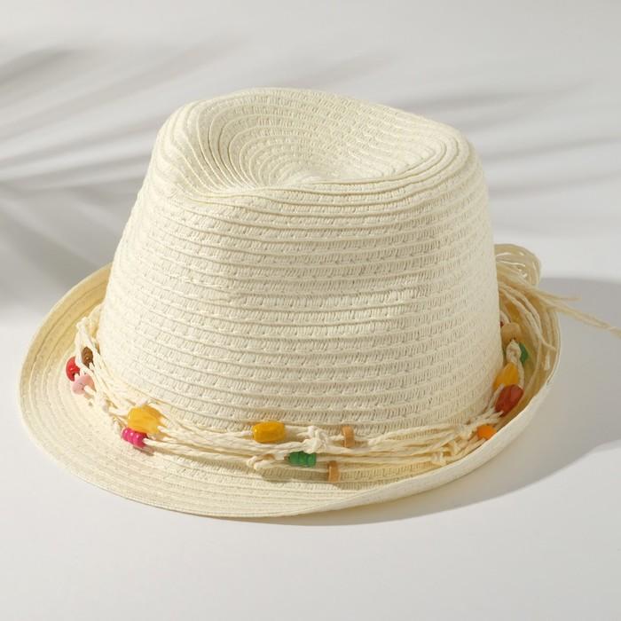 """Шляпа детская """"Brasil"""", размер 50-52, цвет белый"""