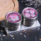 """Набор """"Цветы"""", банка для специй на магните 2 шт., 100 мл, подставка"""
