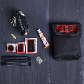 Набор 'Bike', универсальный ключ, ремкомплект, иструмент для разбортировки шин, чехол Ош