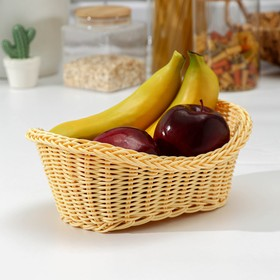 Корзинка для фруктов и хлеба Доляна «Ваниль», 28×14×9 см