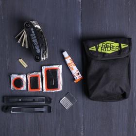 Набор 'Free', универсальный ключ, ремкомплект, иструмент для разбортировки шин, чехол Ош